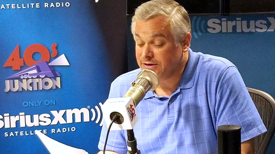 Steve at the mic for Sirius XM 40s Junction 8-2019